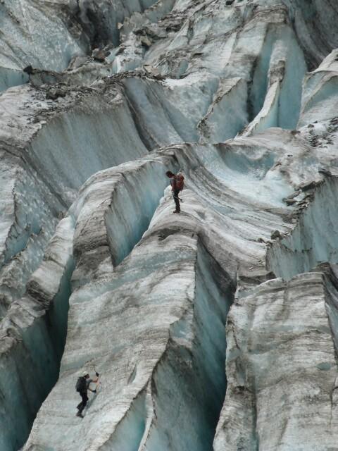 Escaladores en Fox Glacier