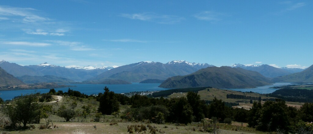Panorámica del lago Wanaka