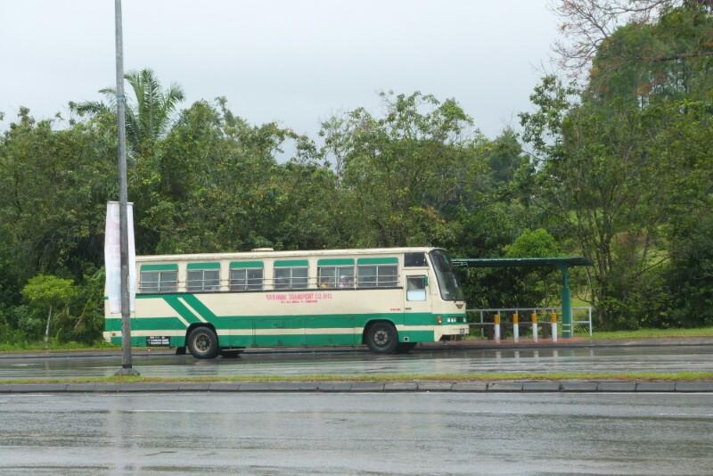 Parada de bus destino Kuching Sentral