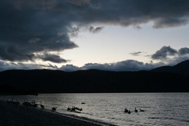 Atardecer en Fiordland