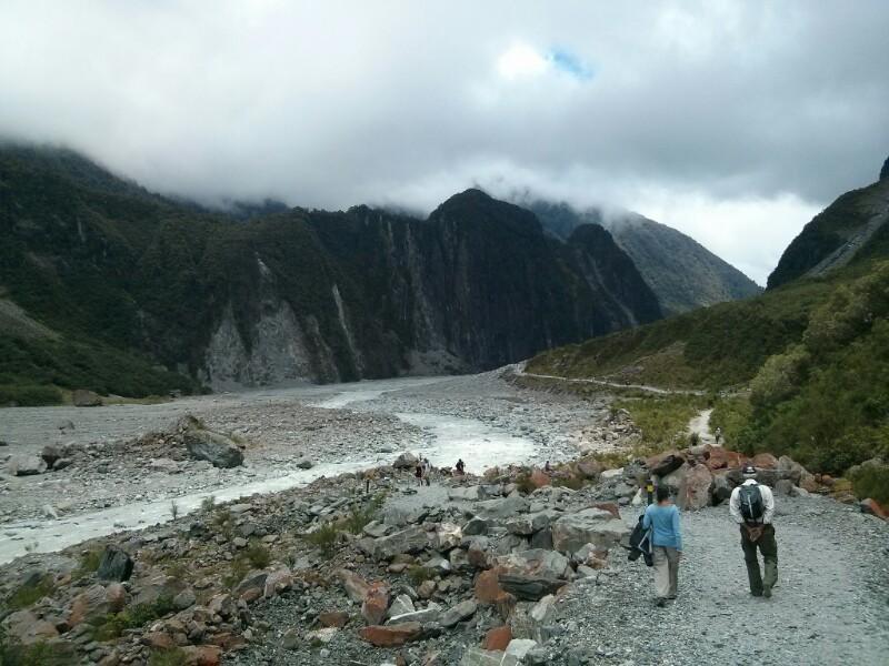 Camino hacia el glaciar