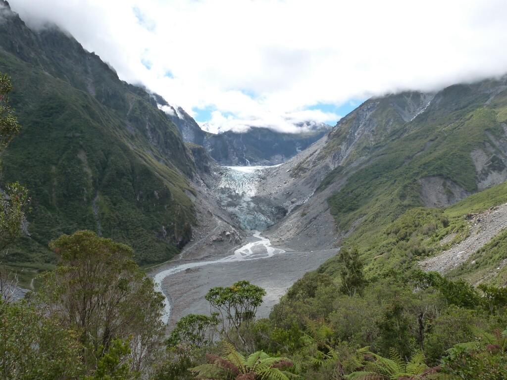 El glaciar Fox y su entorno