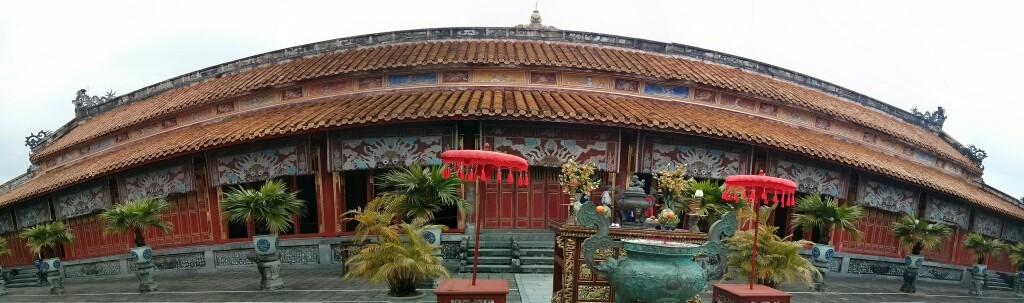 Palacio en el interior de la muralla de Hue