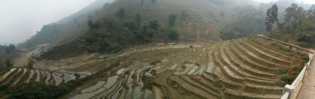 Panorámica del valle de Sapa