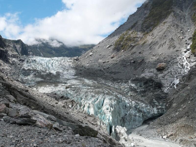 Panorámica completa del glaciar Fox