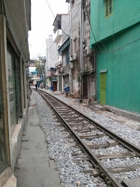 Una calle a las afueras de Hanoi