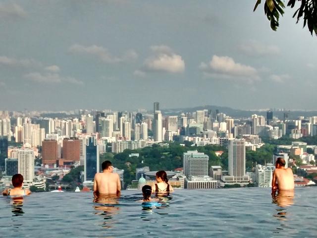 A primera hora contemplando Singapur