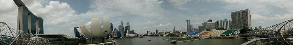 Panorámica de Marina Bay desde el otro extremo