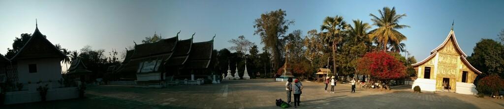 Panorámica de templos en Luang Prabang
