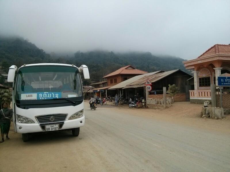 Parada del almuerzo en Laos