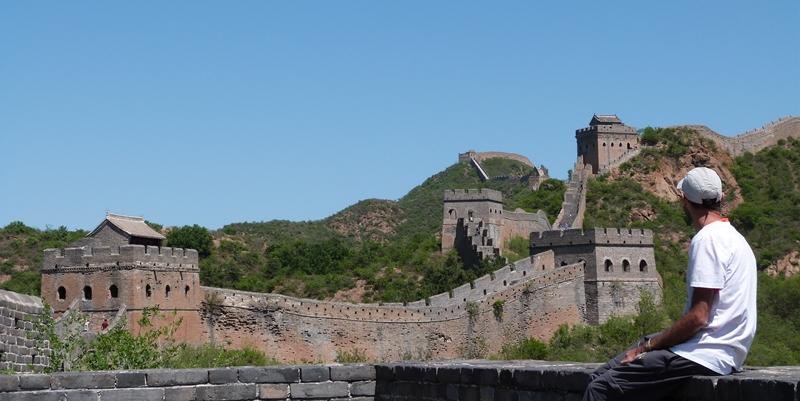 Contemplando la Gran Muralla en Jinshanling