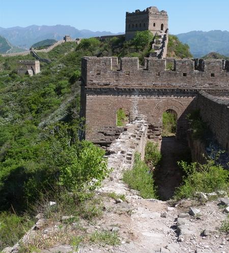 Deterioro de la muralla en Taochun