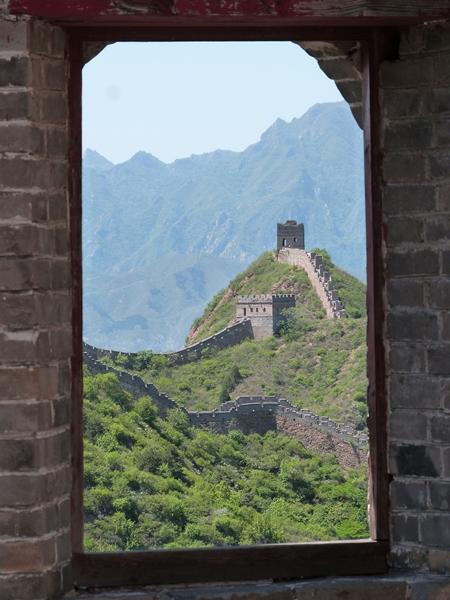 Escenas de Jinshanling desde una ventana