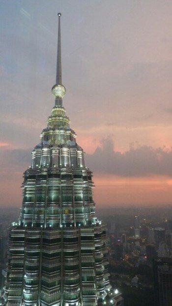 Las Torres Petronas desde las alturas
