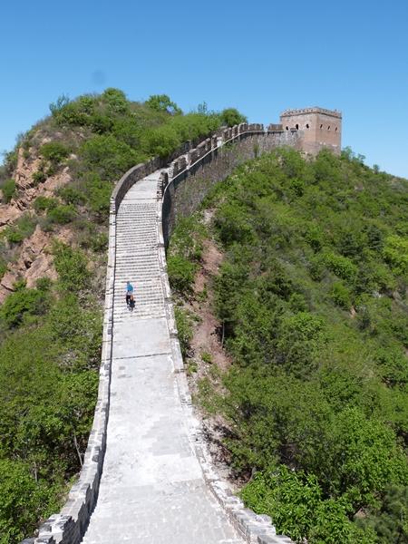 Primeros desniveles en Jinshanling