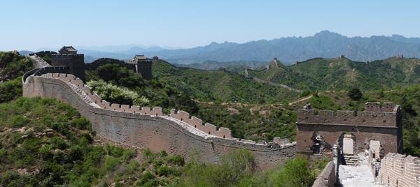 Rumbo a las torres de Jinshanling