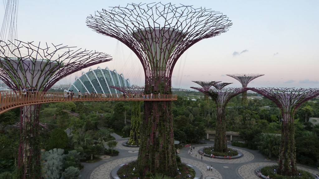 Vistas desde el OCBC Skyway de Singapur