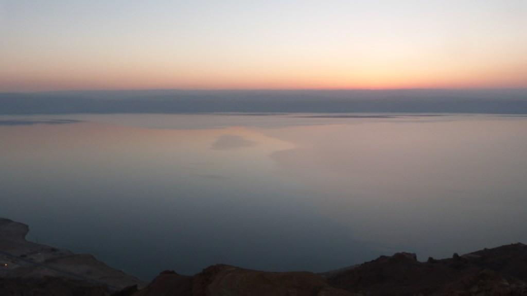 Atardecer desde el mirador del Mar Muerto
