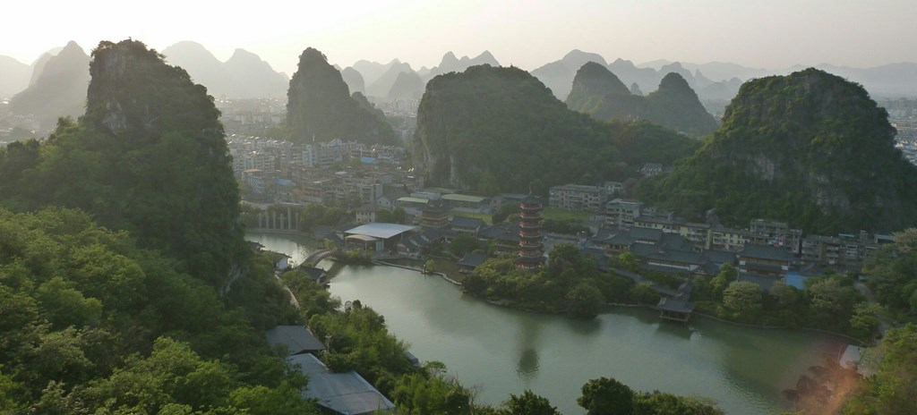 Atardecer en Guilin