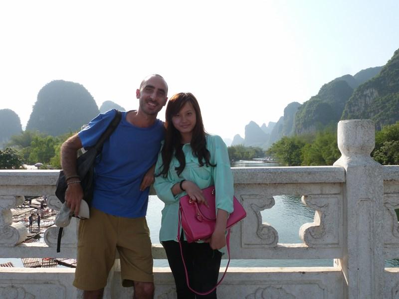 Con una amiga china en Yangshuo