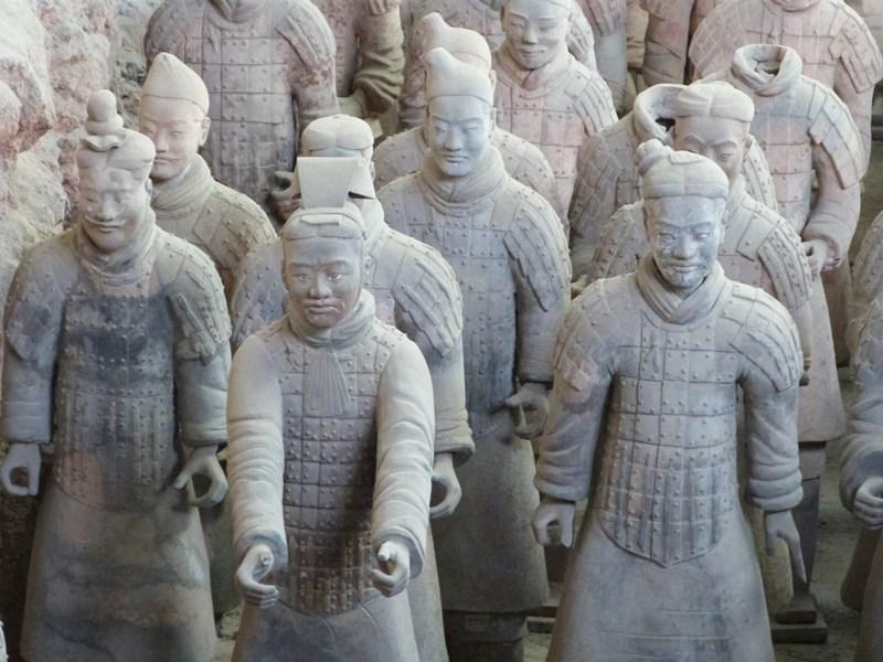 Detalle de los guerreros de Xian