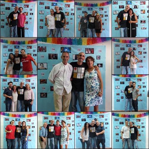 Collage de la fiesta sorpresa en Málaga