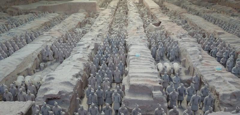 Panoramica de ejército de Terracota en Xian