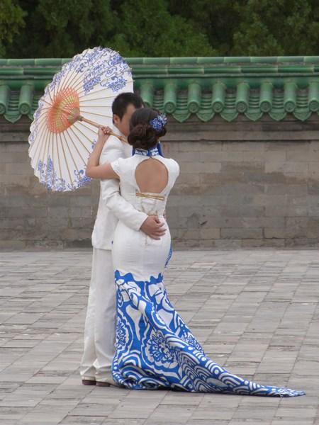Pareja de moda en Pekín