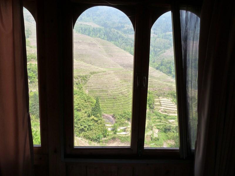 Vistas desde mi hostal de Dazhai