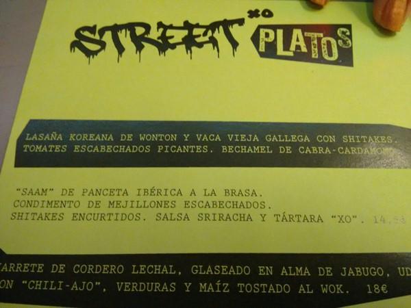 Detalle de carta de Street Xo
