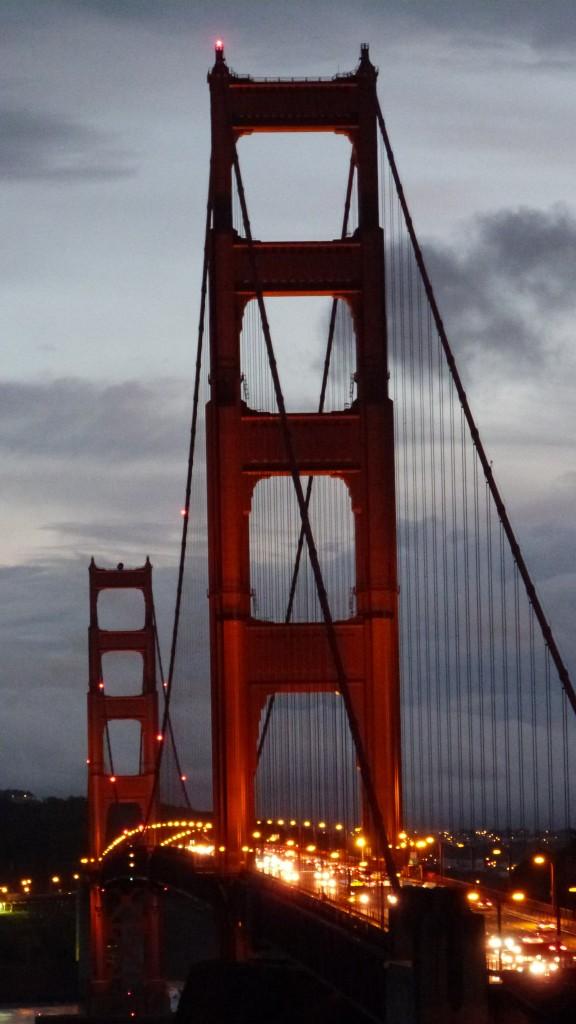 El Golden Gate al atardecer