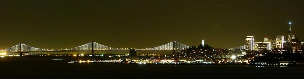 Panorámica de SF de noche
