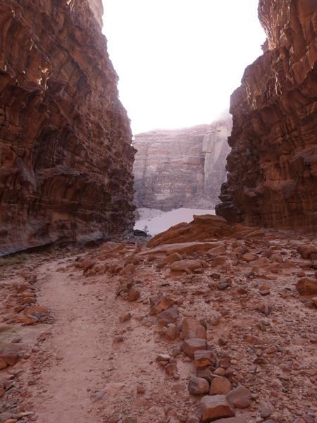 Caminando por el Wadi Rum