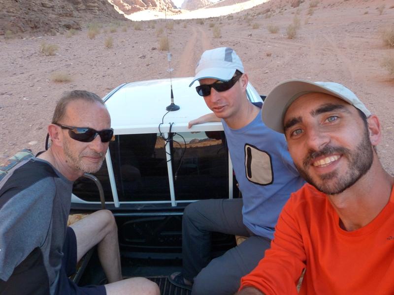 En plena excursión por el Wadi Rum