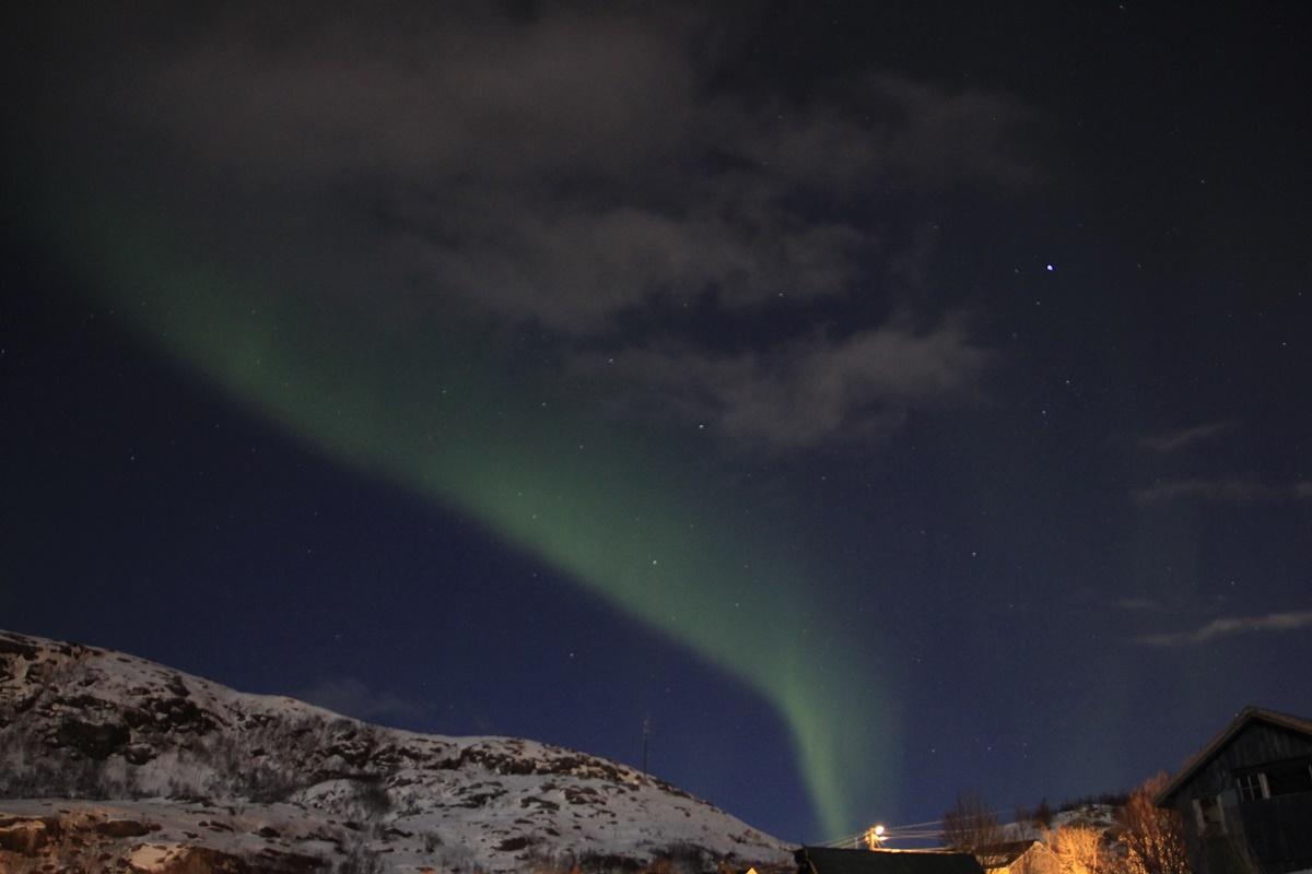 Auroras Boreales surcando el cielo