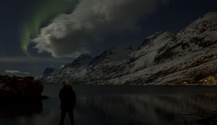 Contemplando Auroras Boreales en Tromso