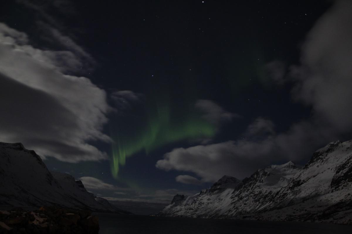 Formas de Auroras Boreales en el cielo