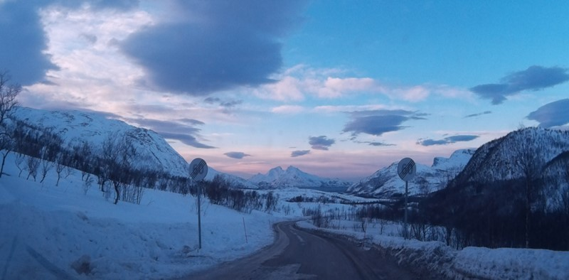 Carretera en Tromso