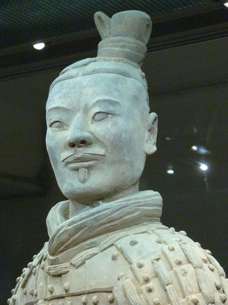 Detalle de un arquero de Xian