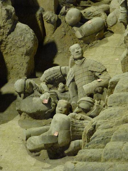 Guerreros enterrados en Xian