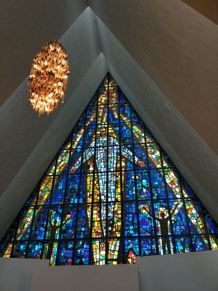 Interior de la catedral del Ártico