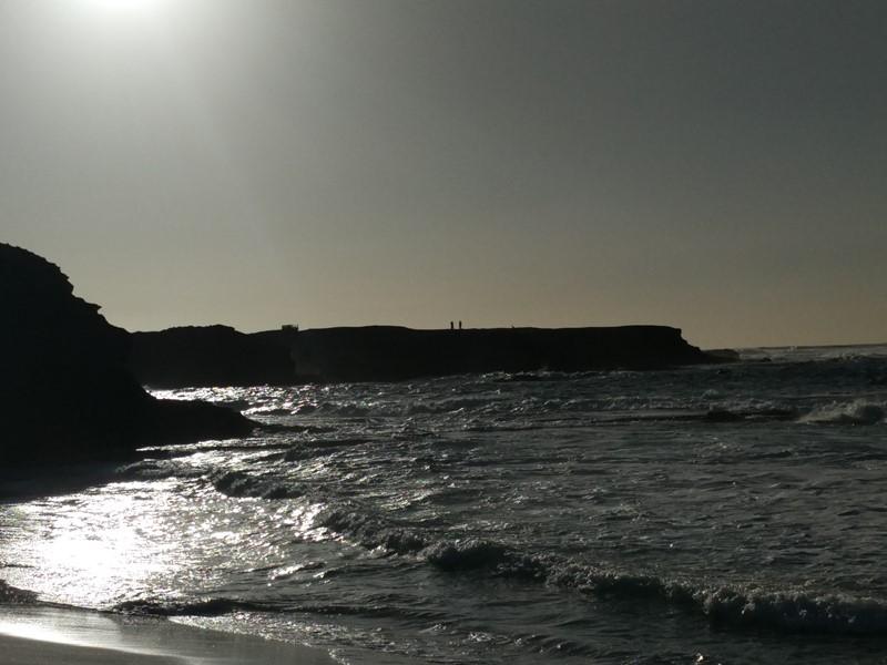 Previo atardecer en playa de Ojos