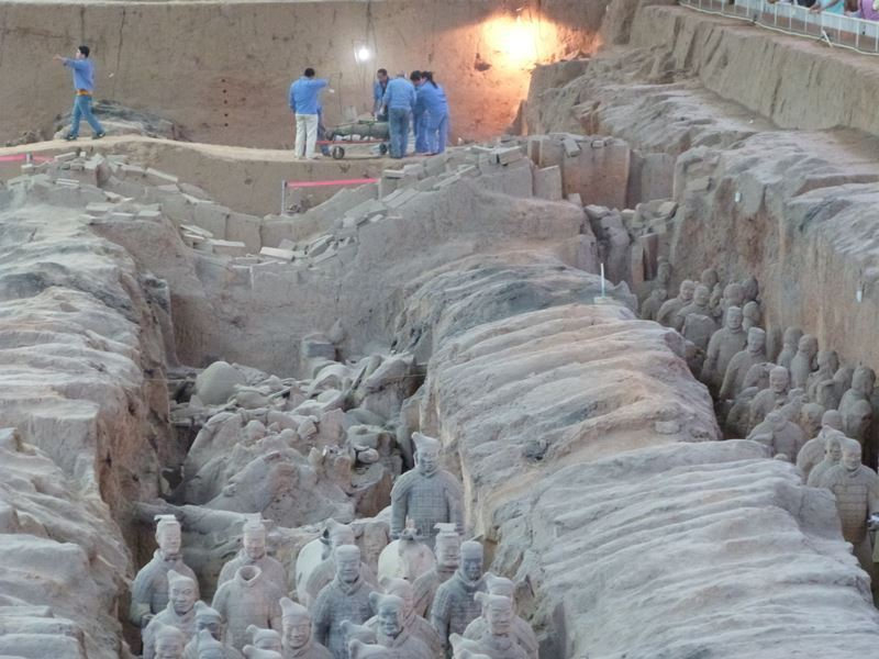 Trabajos de restauración en Xian