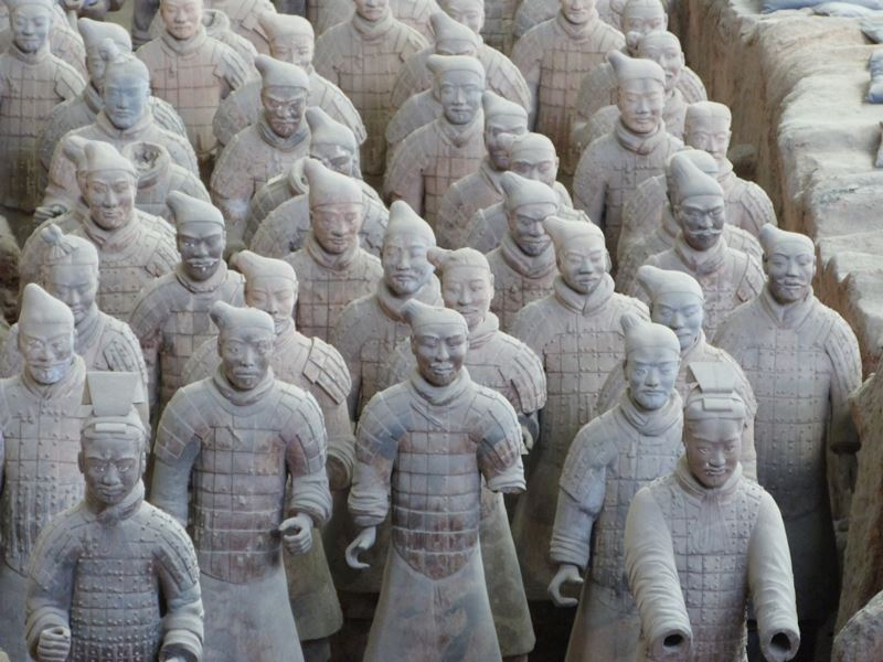 Un grupo de guerreros