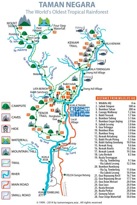 Mapa de Taman Negara