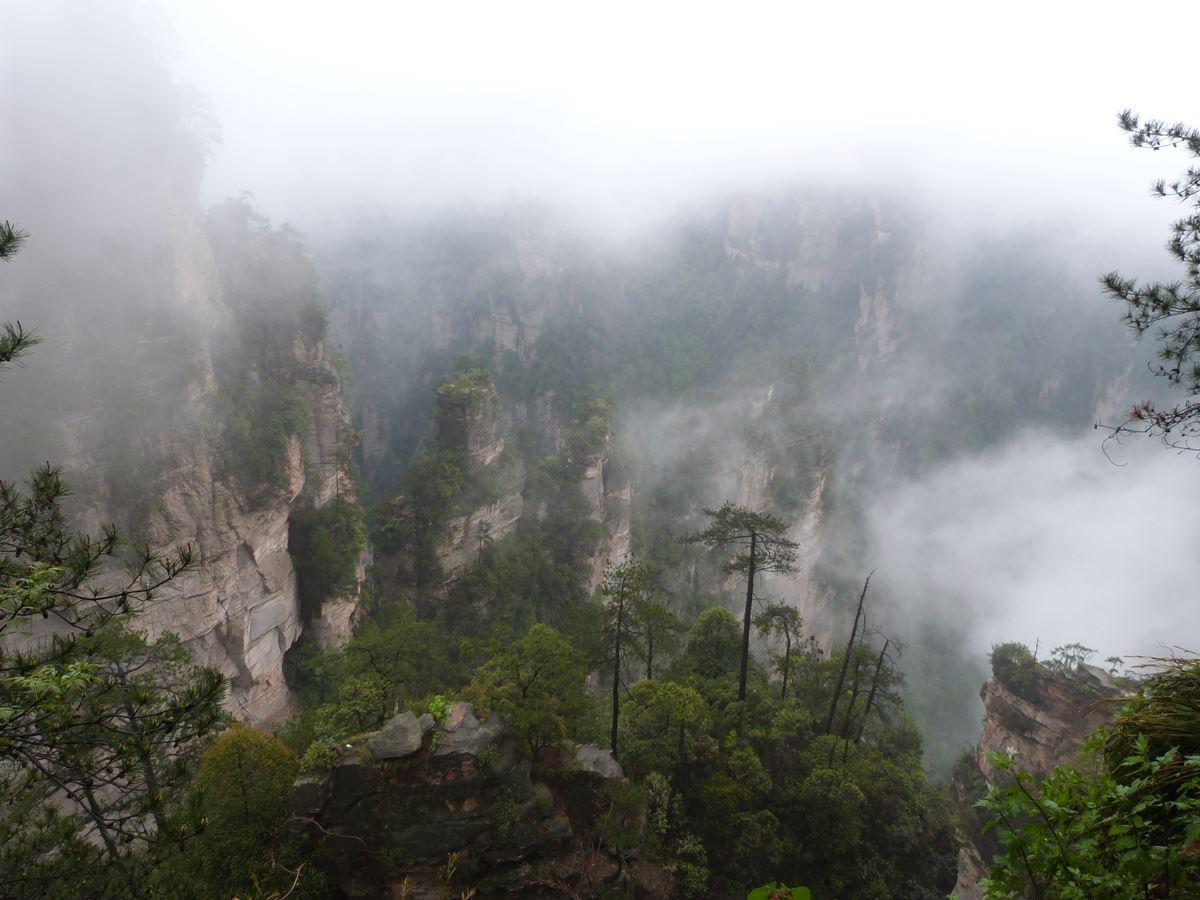 Zhangjiajie entre nieblas
