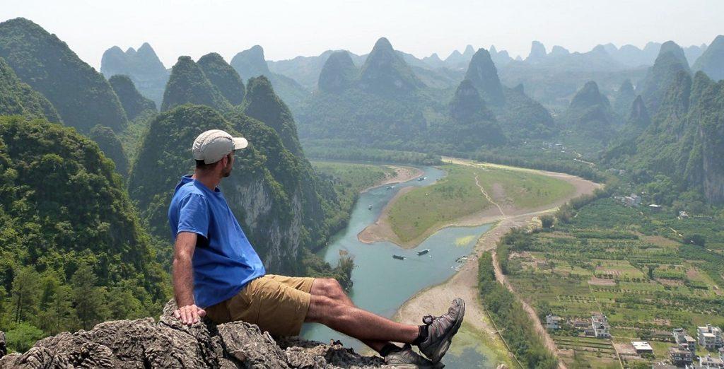 Contemplando el río Li y su entorno