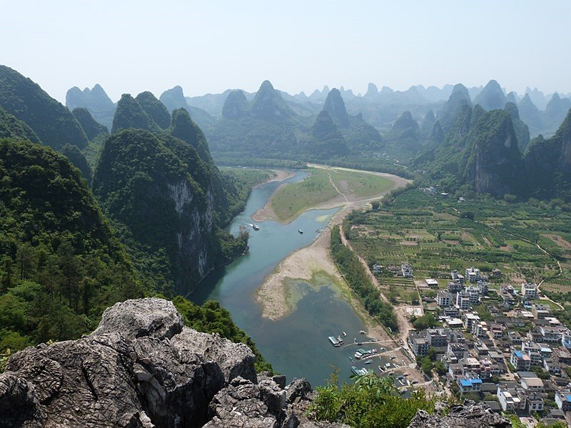 Postales de China desde la colina de Lao Zhai Shan