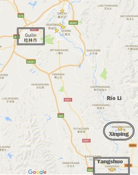 Mapa de situación de Xinping