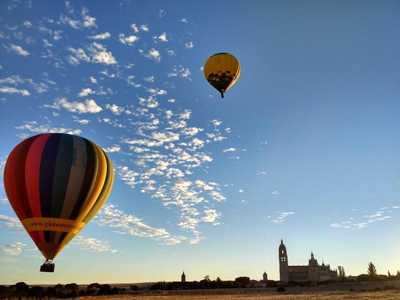 Paseando en globo por Segovia